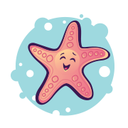 Image of Smiling Happy Starfish